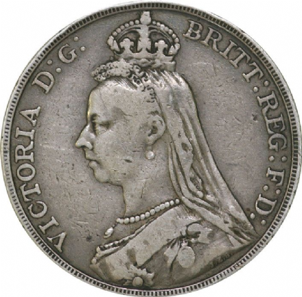 Victoria Jubilee Head Crown 1887-1892 in VF Condition